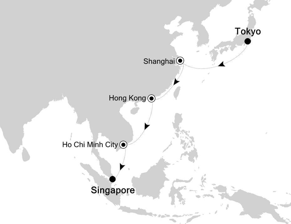 4905 - Tokyo a Singapore