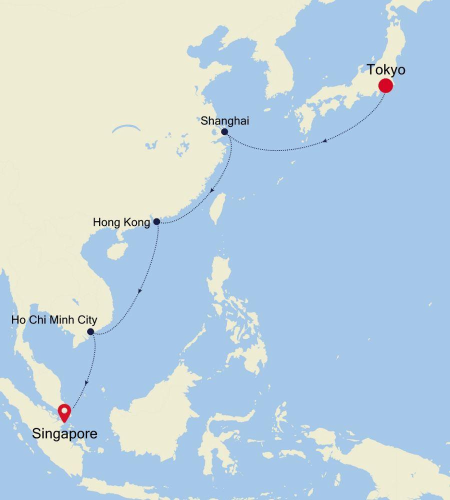 4905 - Tokyo nach Singapore