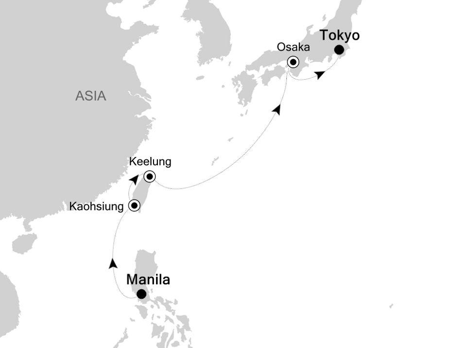 4904A - Manila nach Tokyo