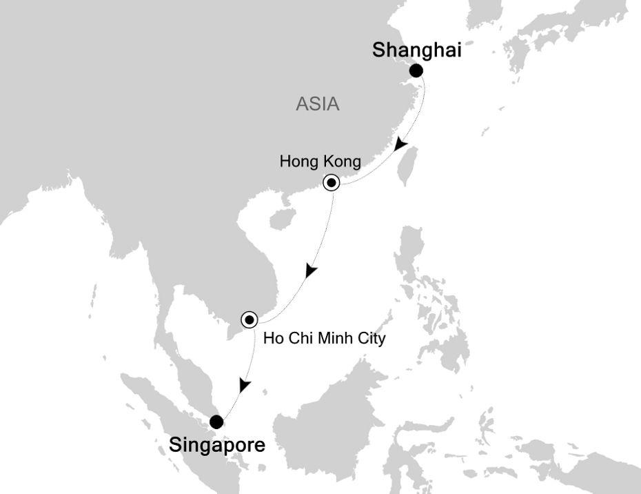 4905B - Shanghai a Singapore