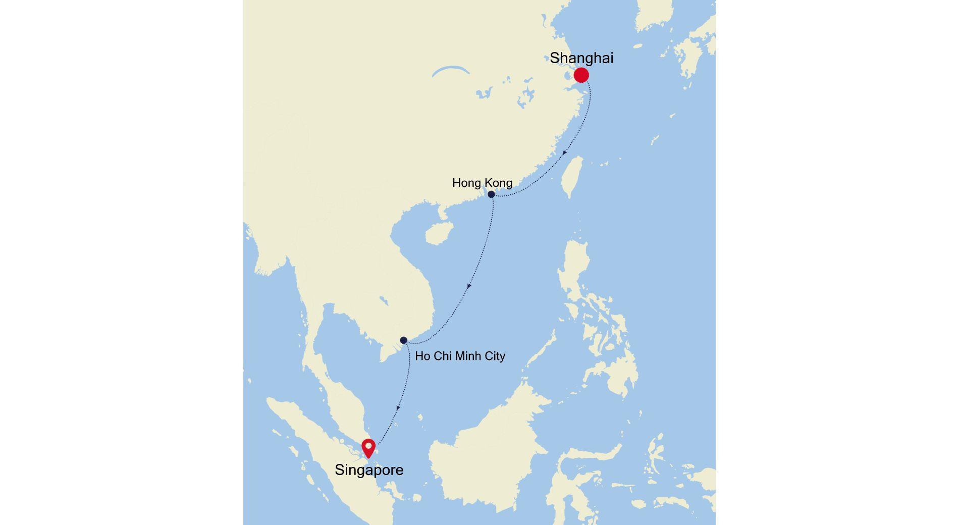 4905B - Shanghai nach Singapore