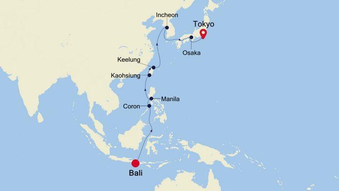 Luxury Cruise From Bali To Tokyo 03 Mar 2021 Silversea