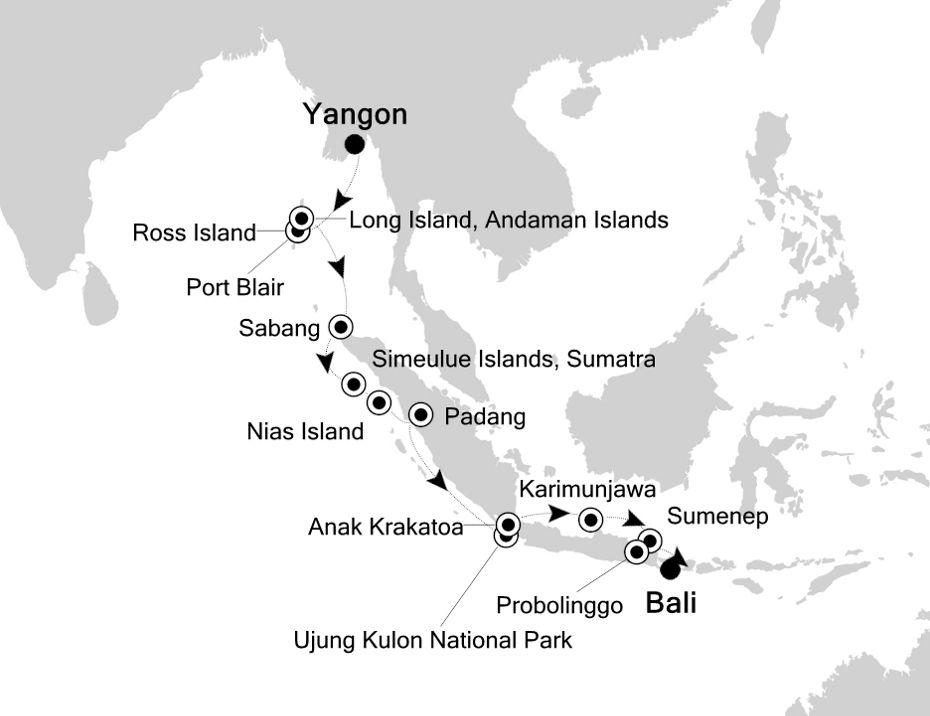 9905 - Yangon a Bali