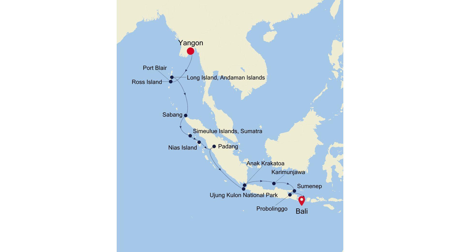 9905 - Yangon à Bali