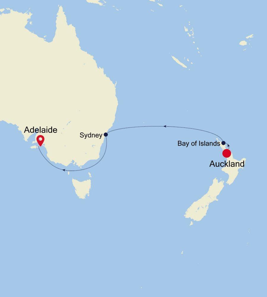 6904C - Auckland à Adelaide