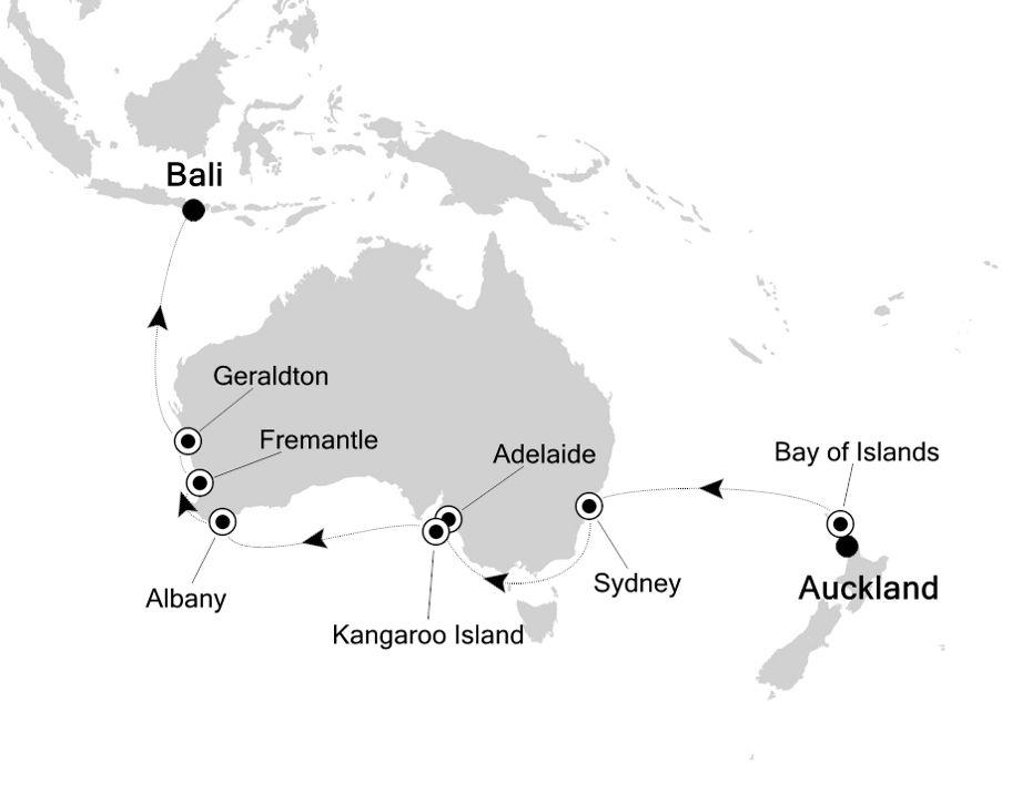 6904 - Auckland nach Bali