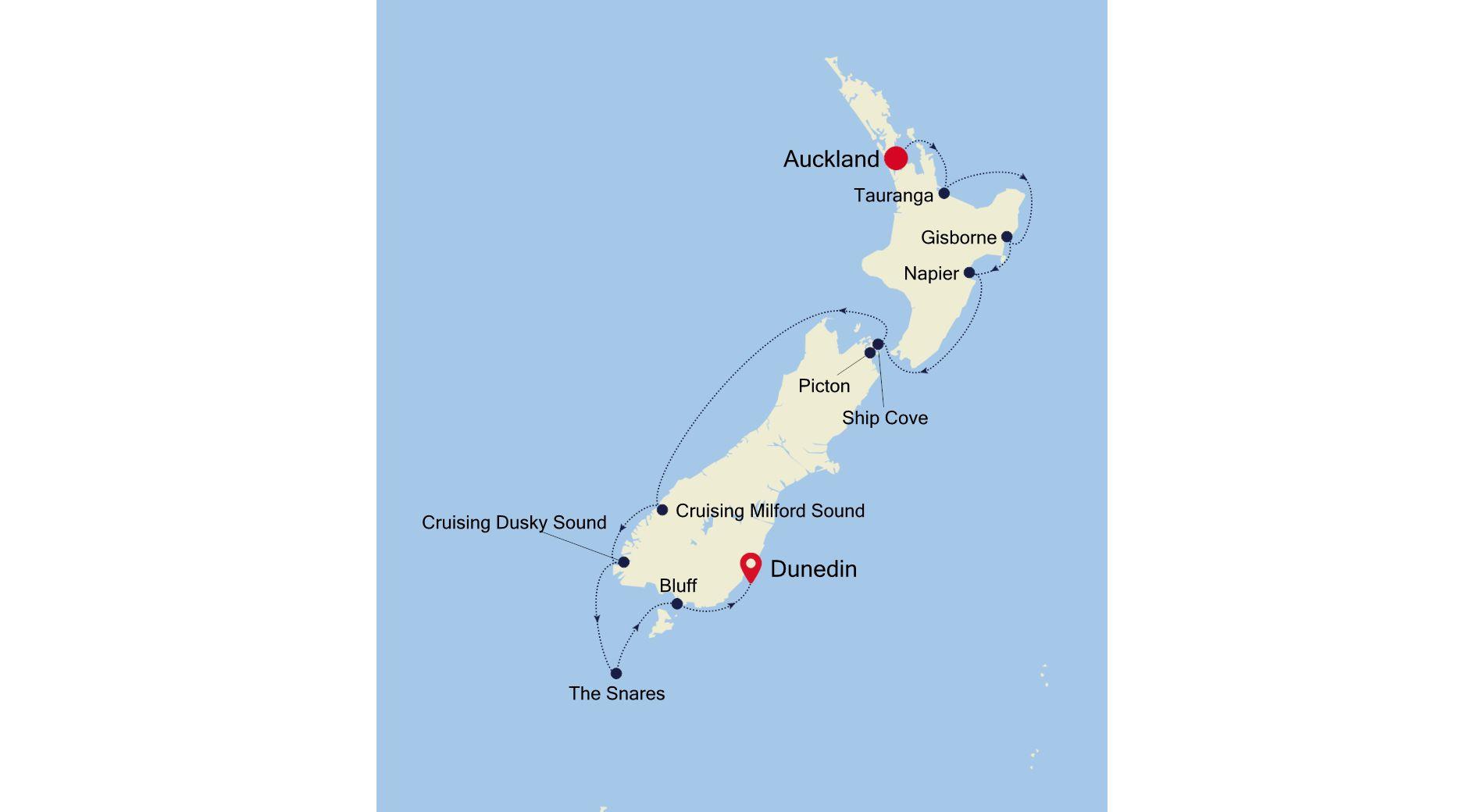 E1201211010 - Auckland to Dunedin