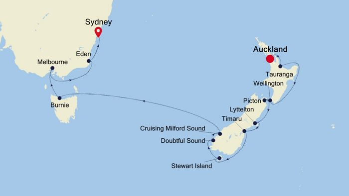 Luxury Cruise From Auckland To Sydney 01 Feb 2020 Silversea