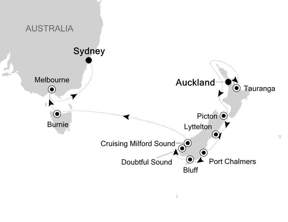 6006 - Auckland à Sydney