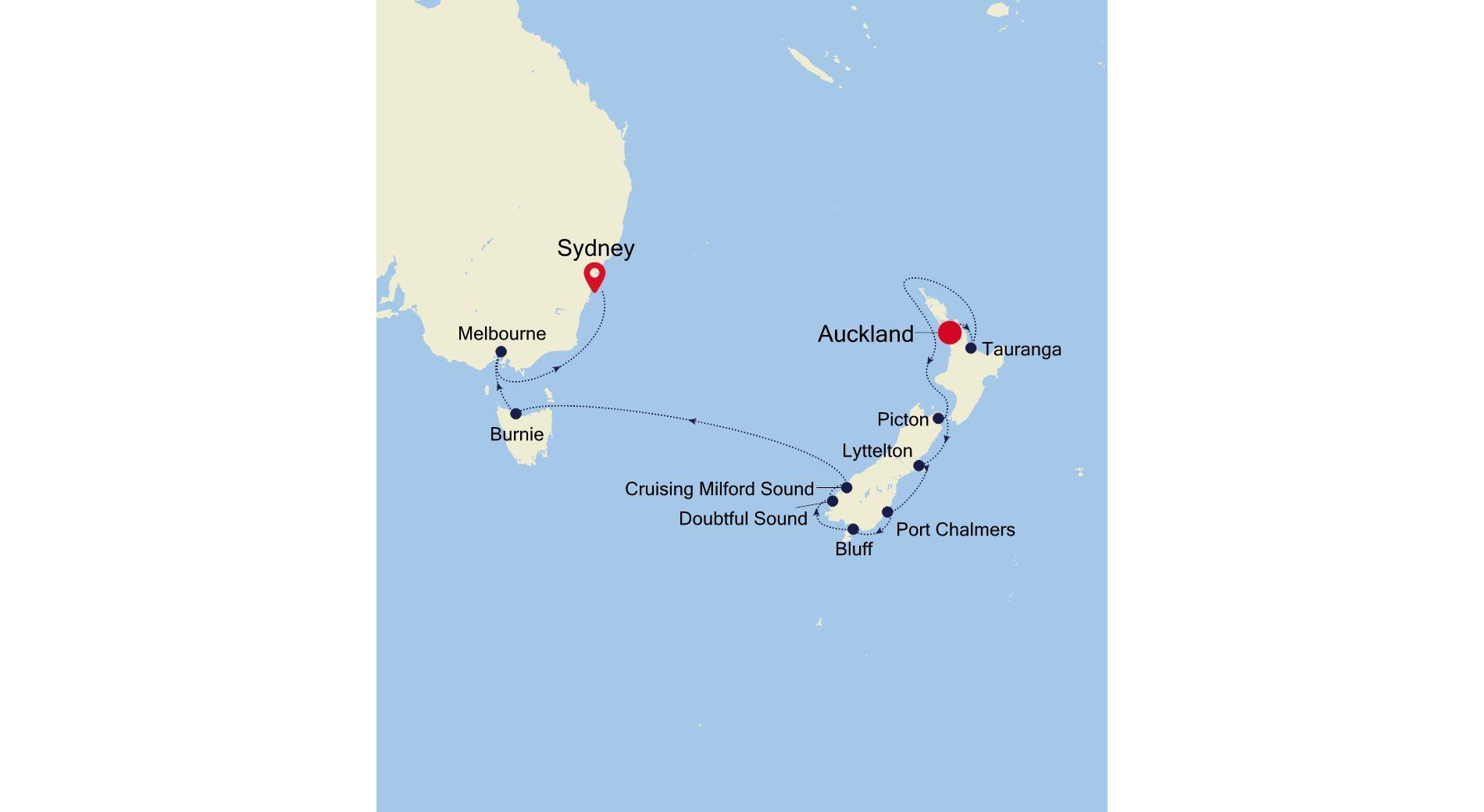 6006 - Auckland a Sydney