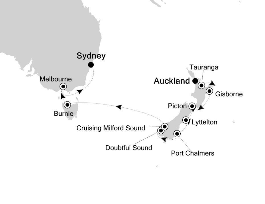 6902 - Auckland nach Sydney