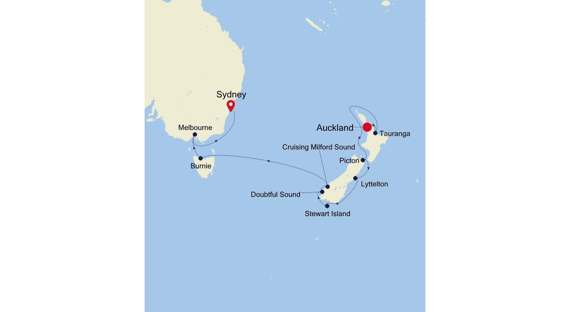 6932 - Auckland à Sydney