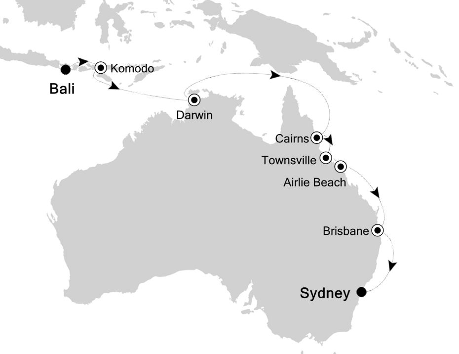 6835 - Bali nach Sydney