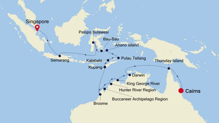 Luxury Cruise from CAIRNS to SINGAPORE 06 Apr 2021 | Silversea