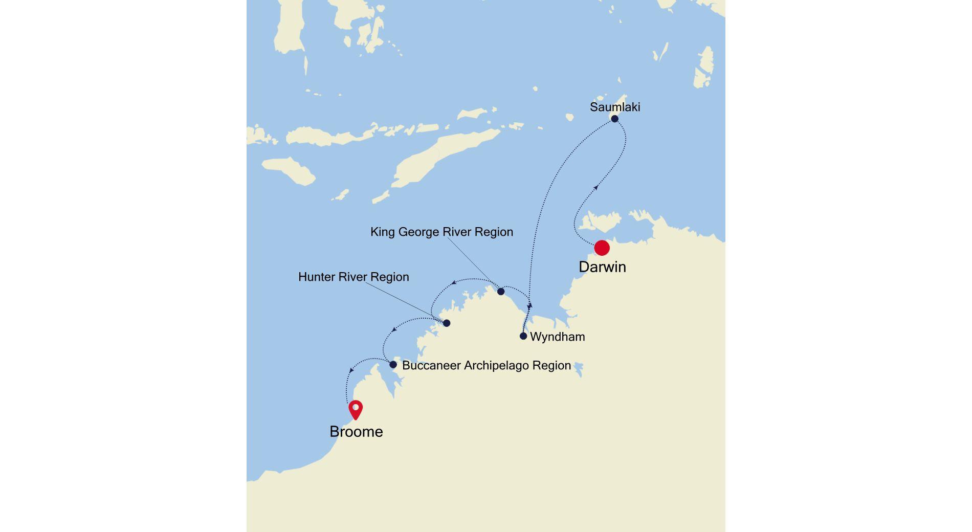 9911 - Darwin a Broome