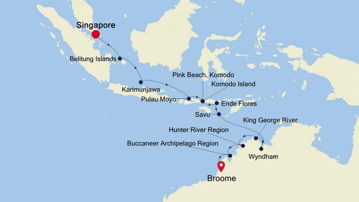 Luxury Cruise from SINGAPORE to BROOME (Kimberley) 07 Jun ...