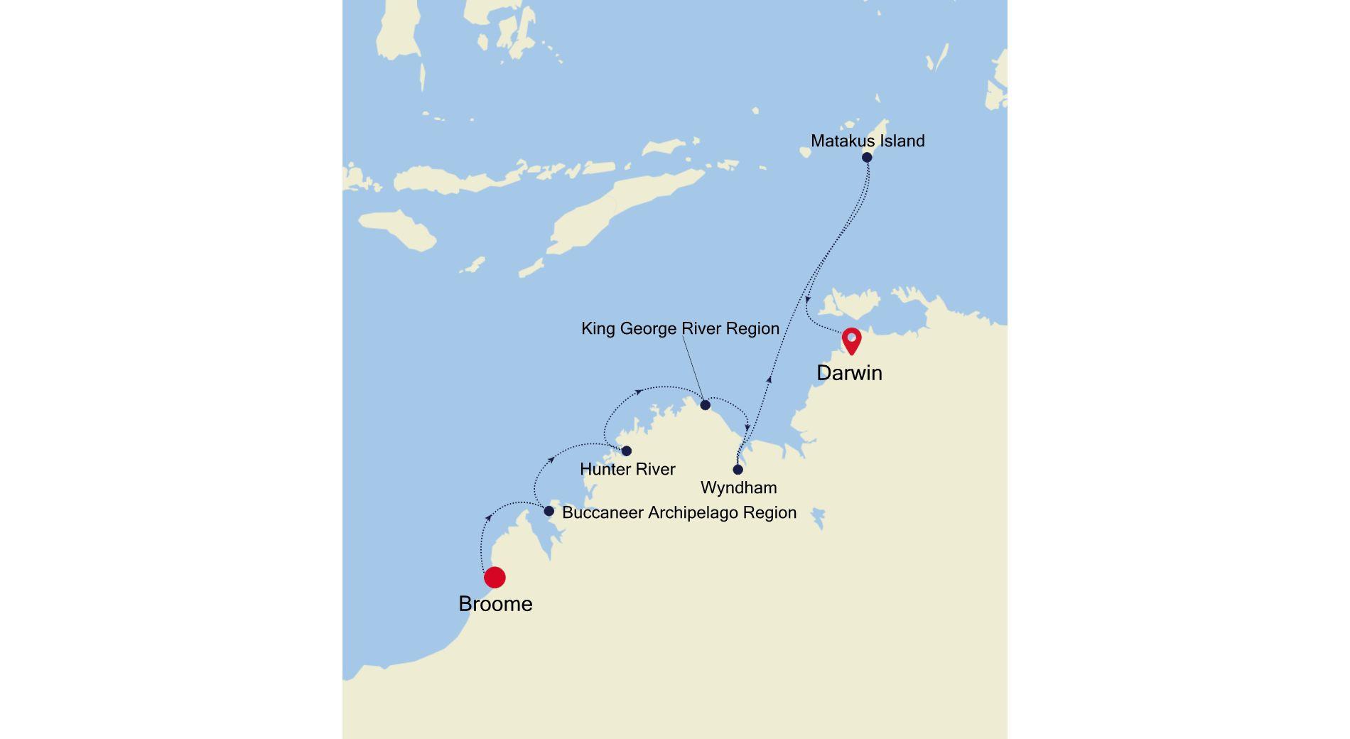 E1210803010 - Broome to Darwin