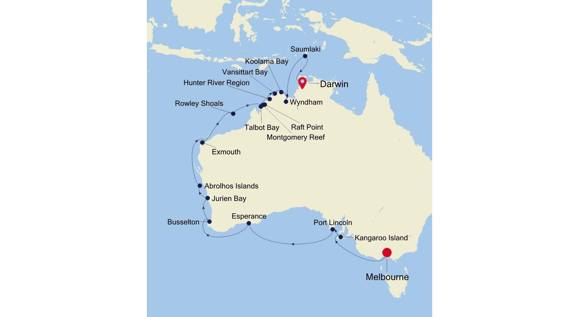 E1210224025 - Melbourne a Darwin