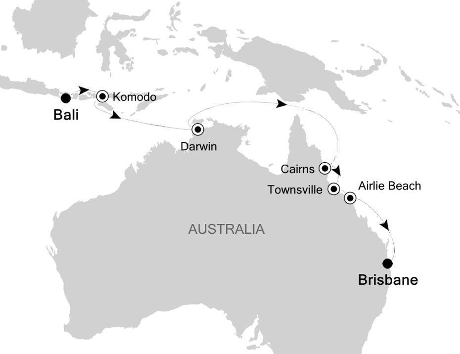 6835A - Bali a Brisbane