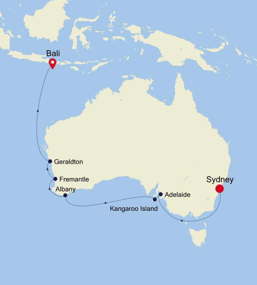 6904B - Sydney a Bali