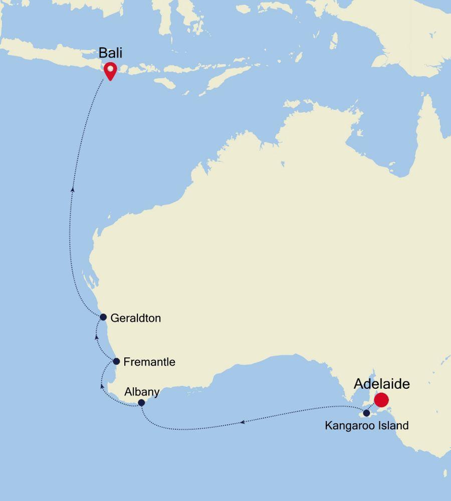 6904D - Adelaide nach Bali