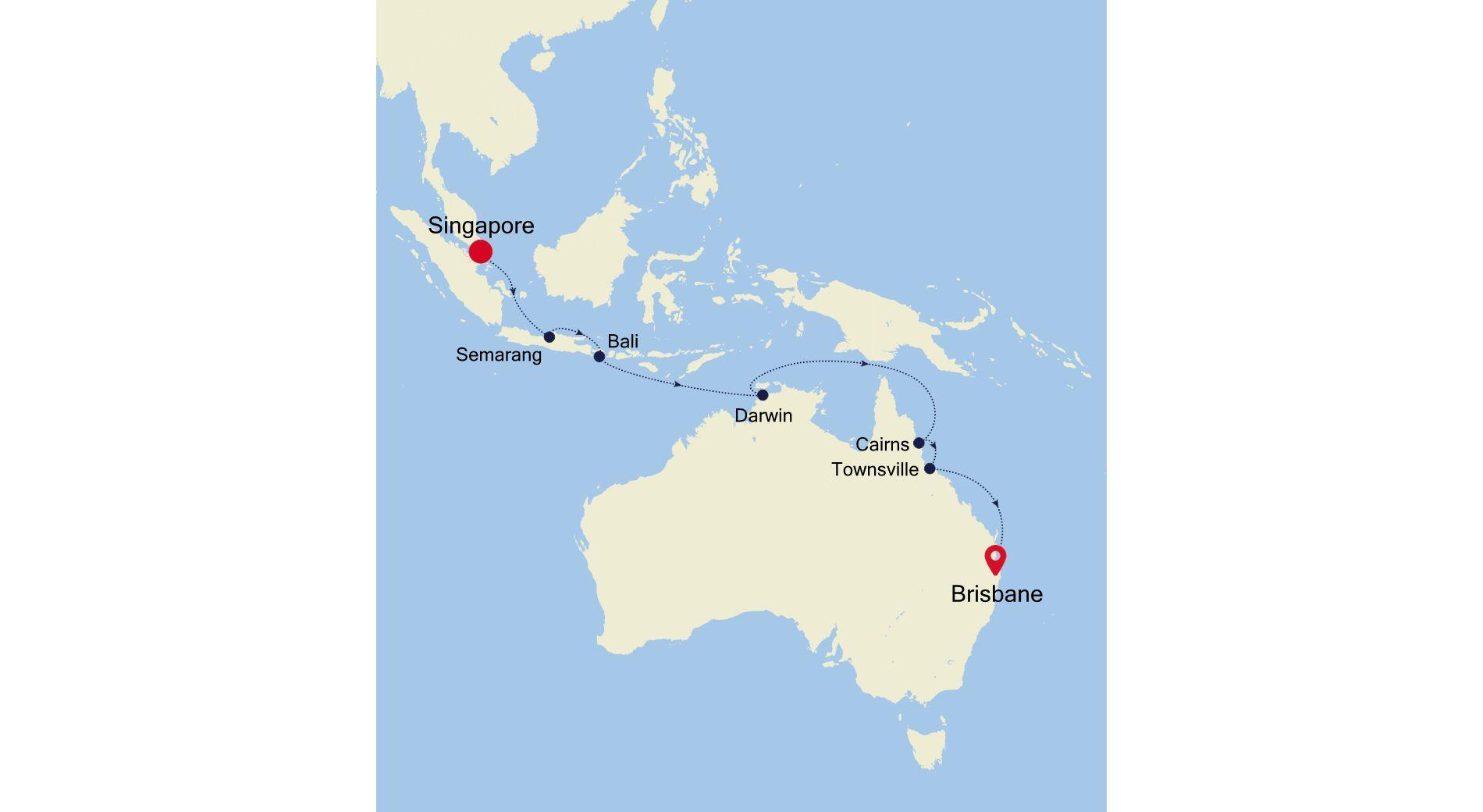 6930A - Singapore to Brisbane