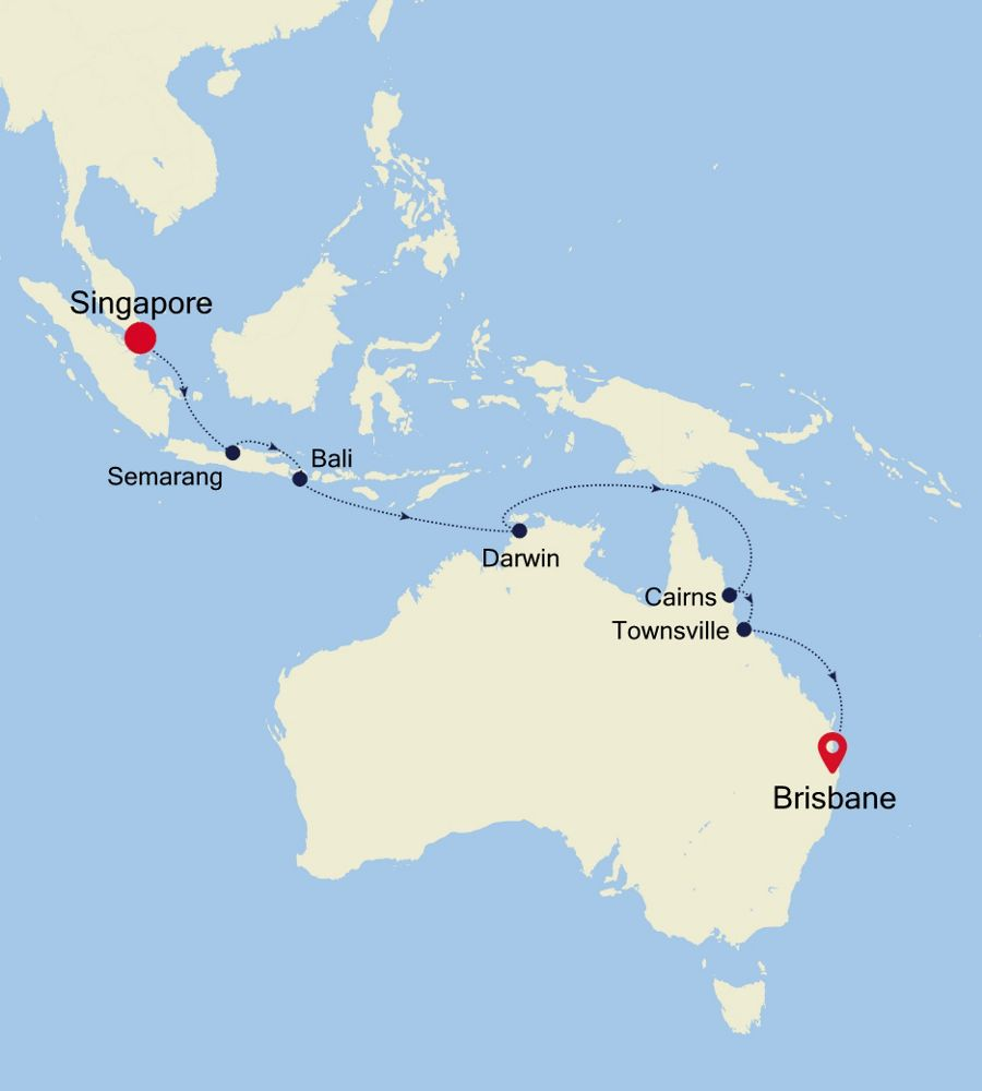6930A - Singapore nach Brisbane