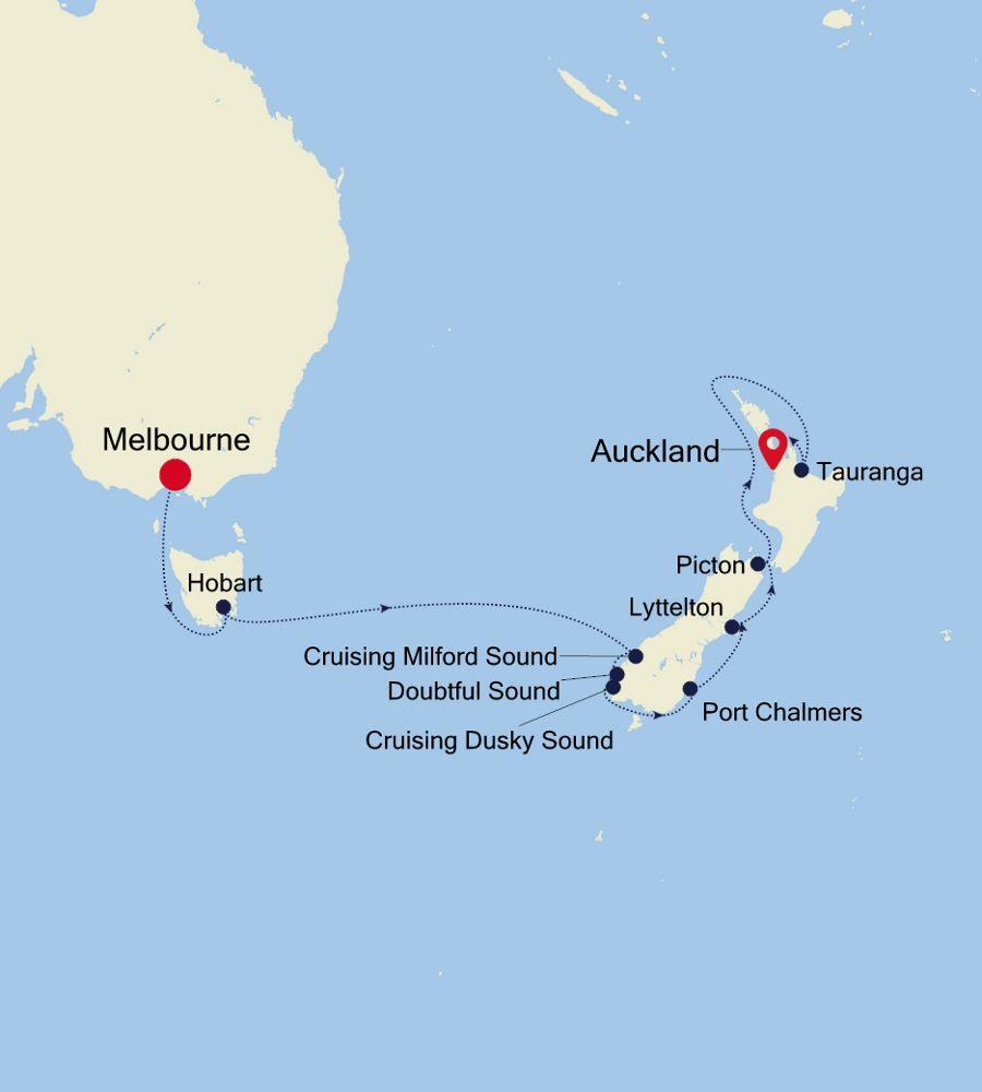 6931A - Melbourne nach Auckland