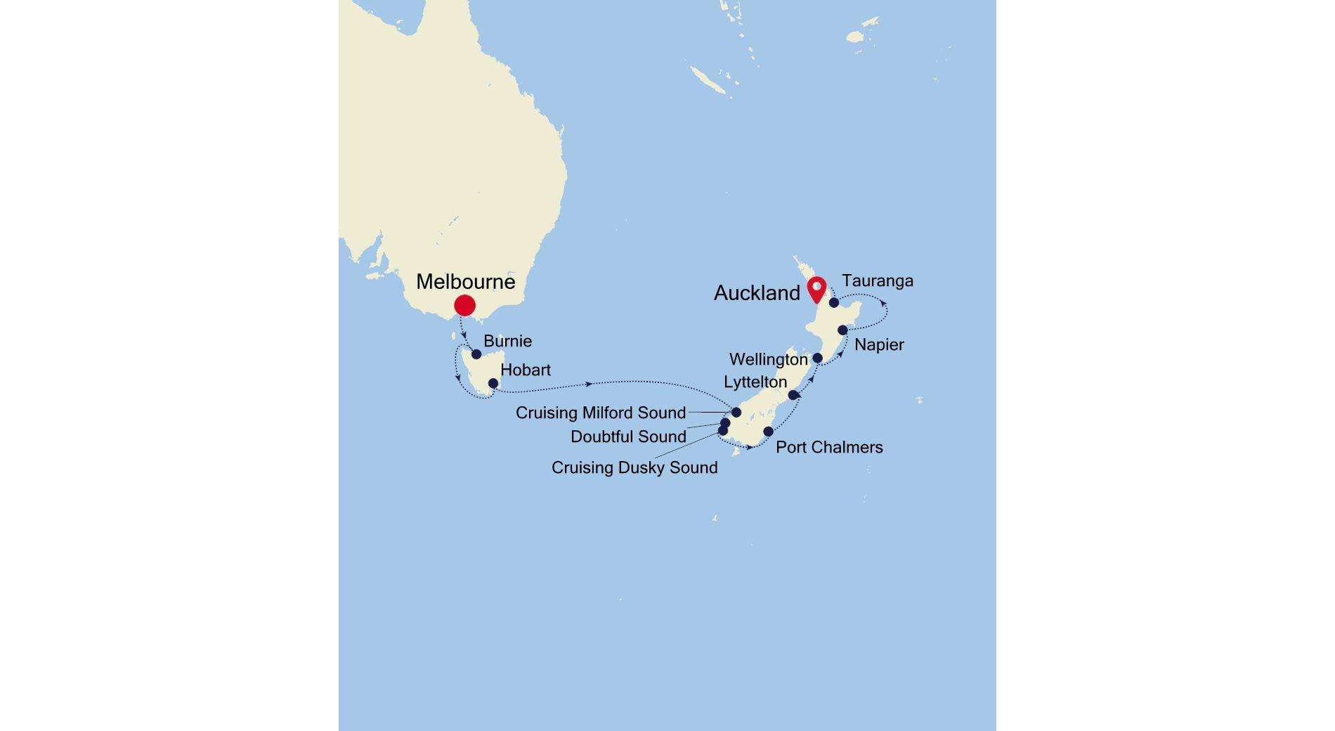 6002A - Melbourne nach Auckland