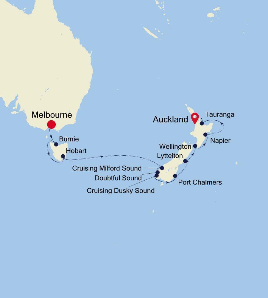 6002A - Melbourne à Auckland