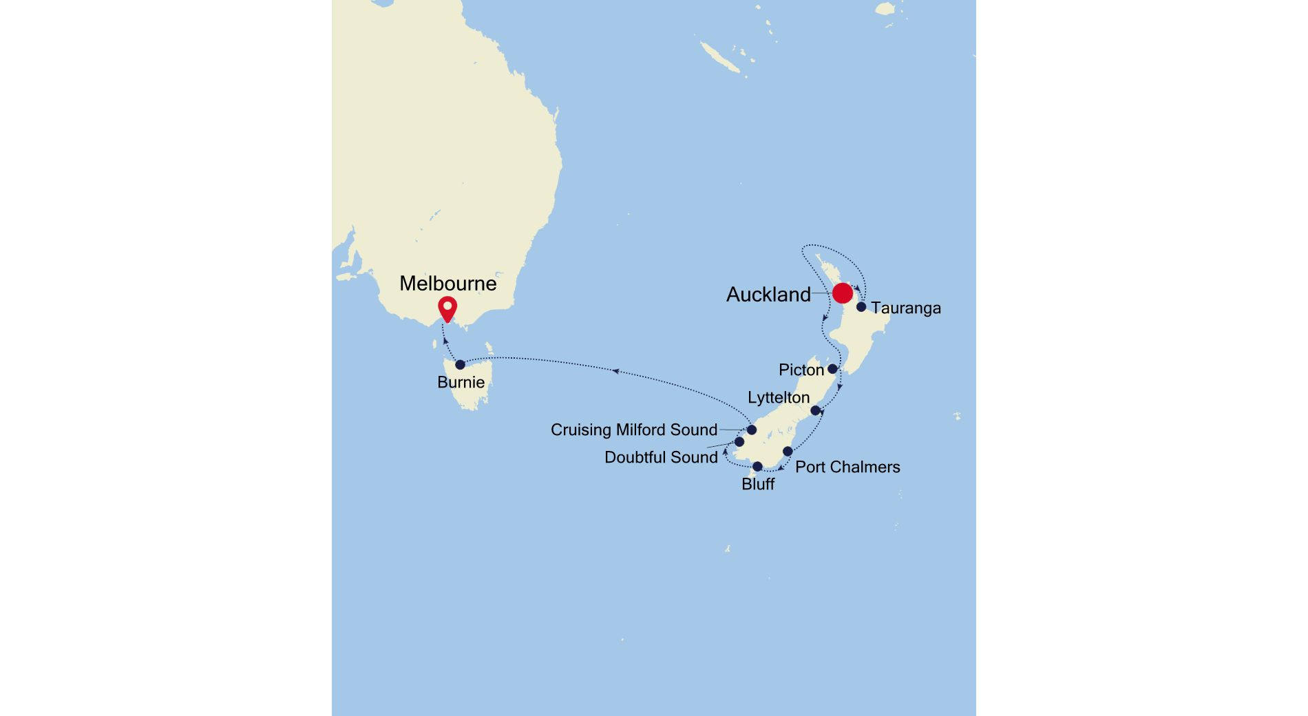 6006A - Auckland a Melbourne
