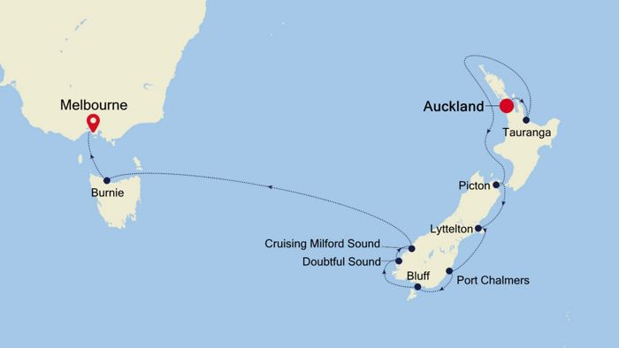 luxury cruise from auckland to melbourne 17 mar 2020. Black Bedroom Furniture Sets. Home Design Ideas
