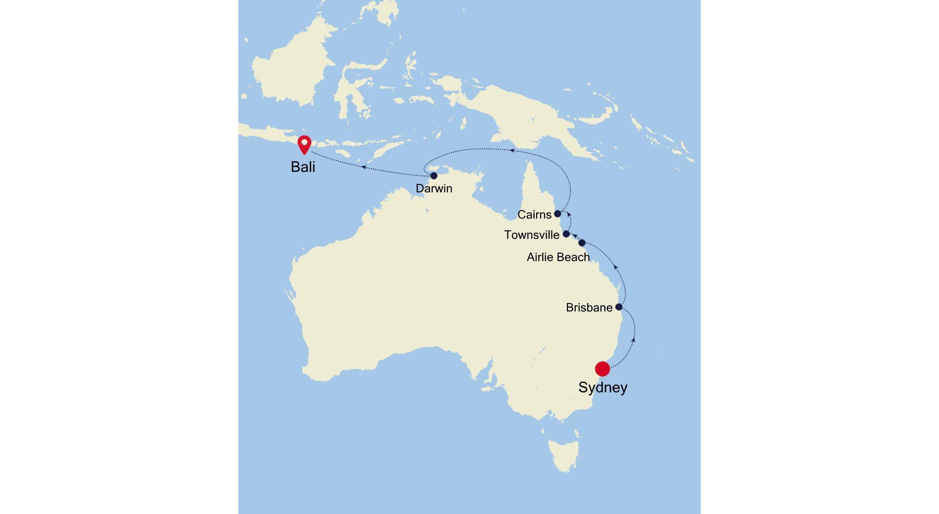 6007B - Sydney nach Bali