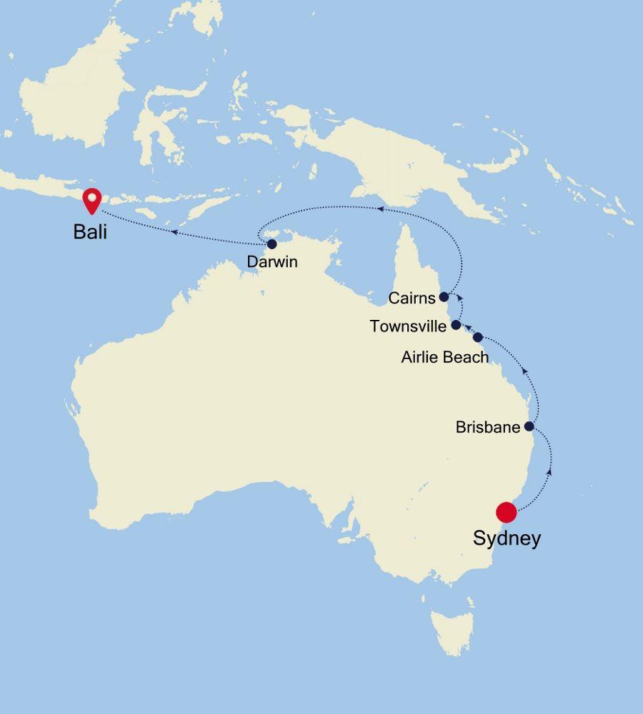 6007B - Sydney a Bali
