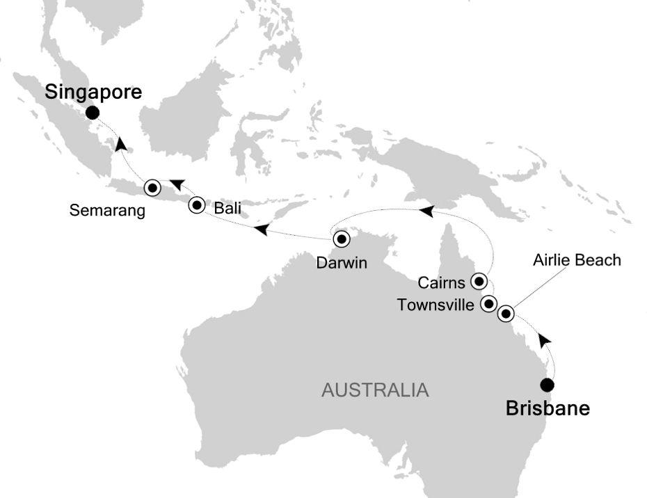 6007A - Brisbane a Singapore