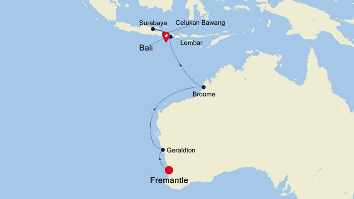 Luxury Cruise from FREMANTLE (Perth) to BALI 21 Nov 2020 ...