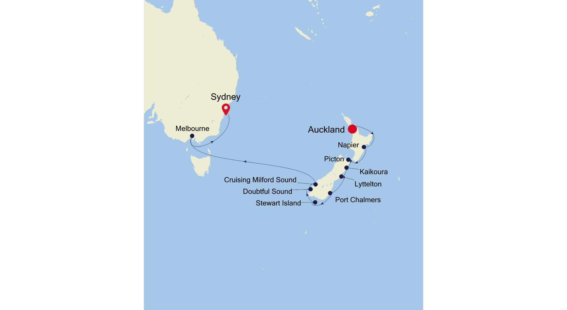 SM210105014 - Auckland to Sydney