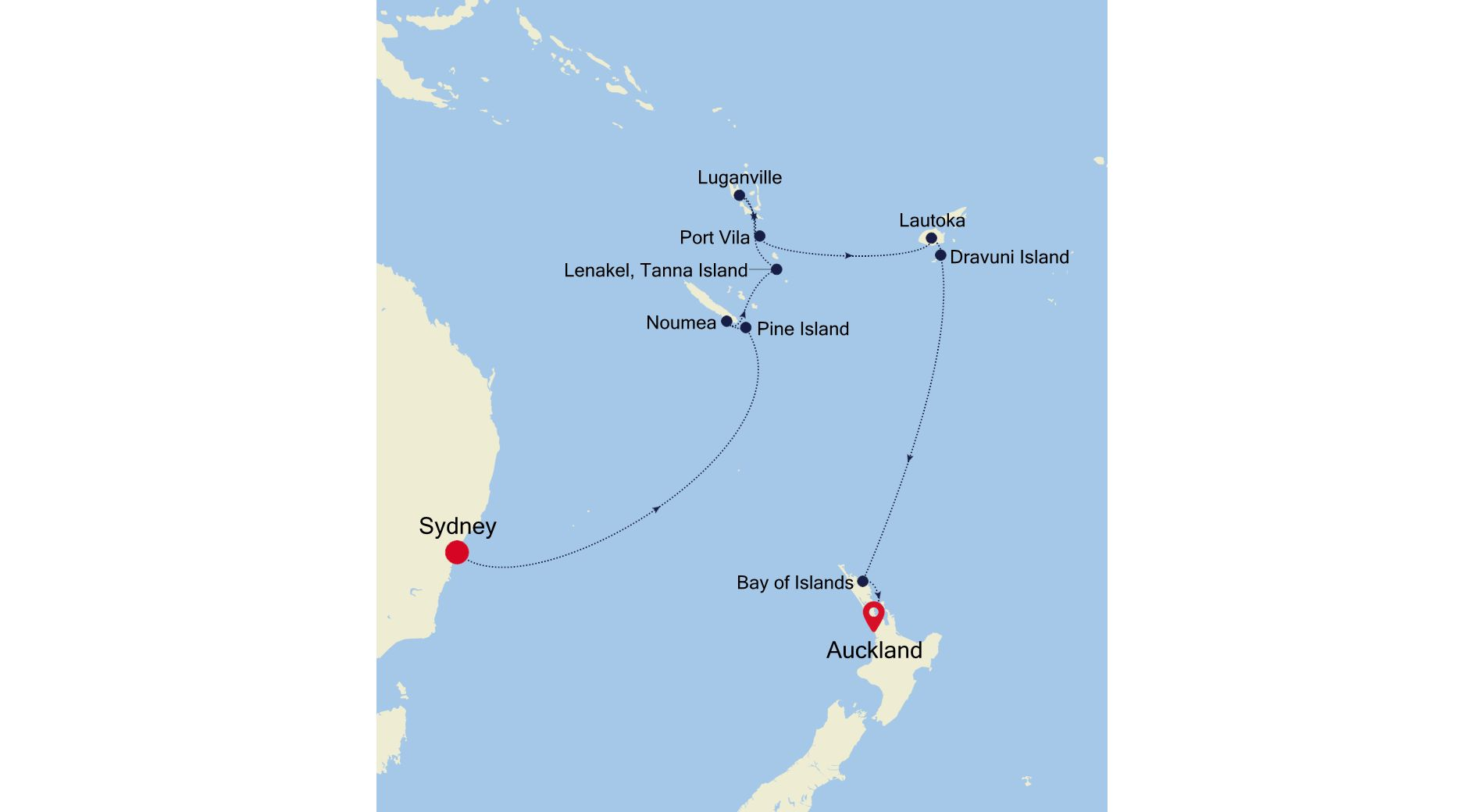 SM210119014 - Sydney to Auckland