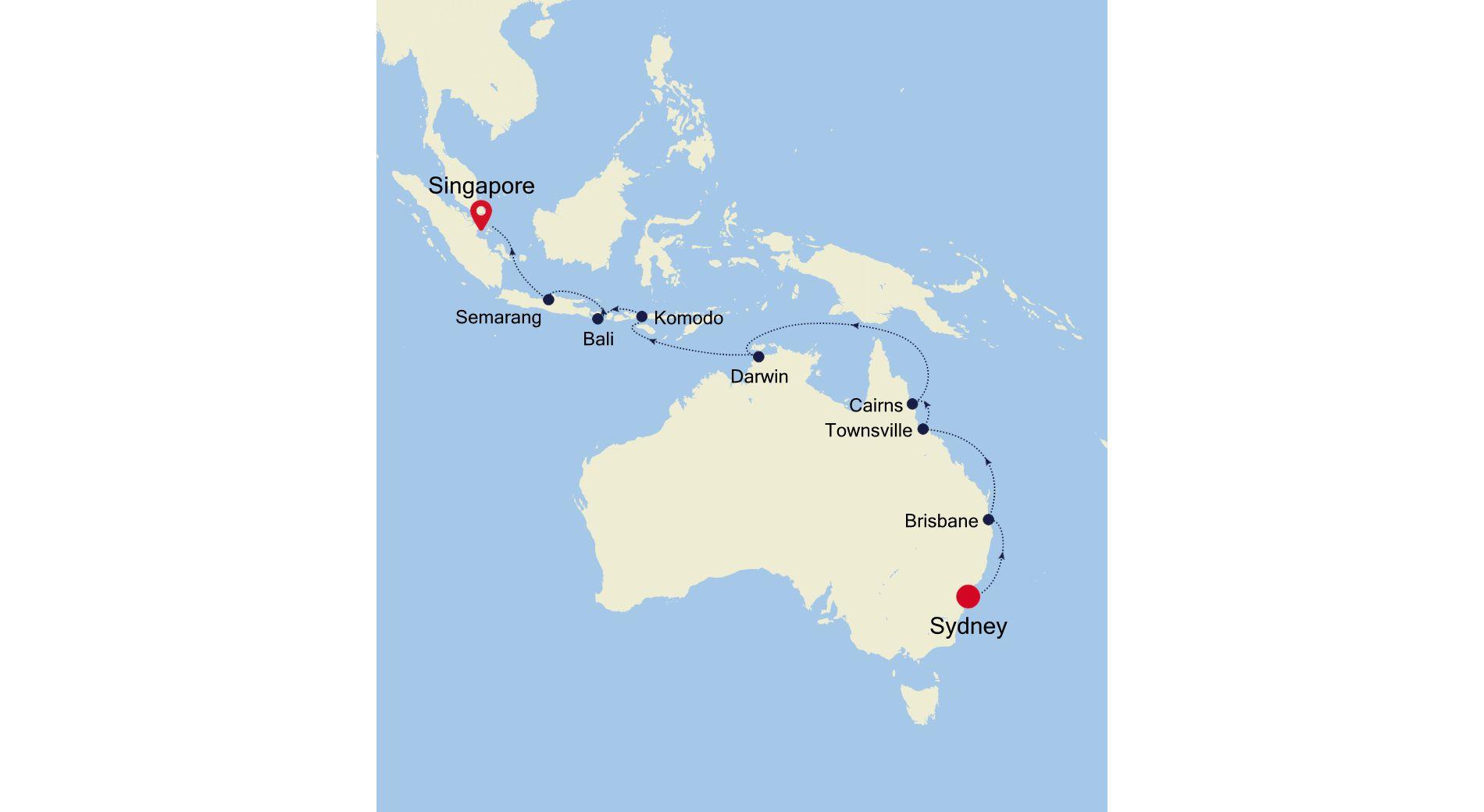SM210219018 - Sydney nach Singapore