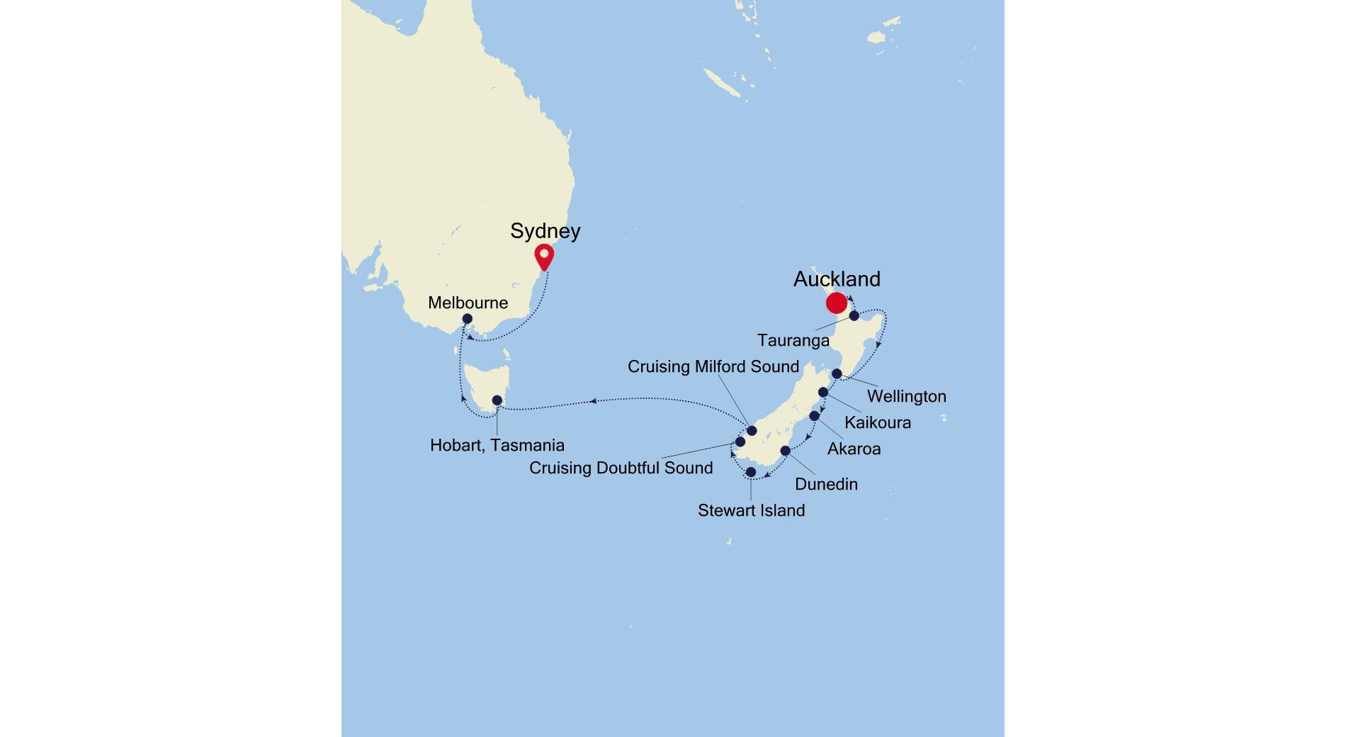 SM220103015 - Auckland a Sydney