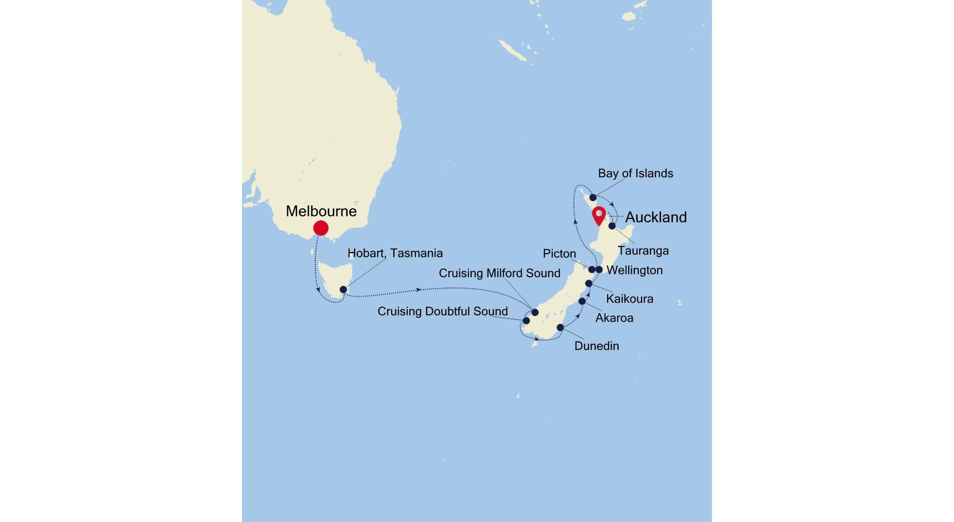 SM220120S14 - Melbourne a Auckland