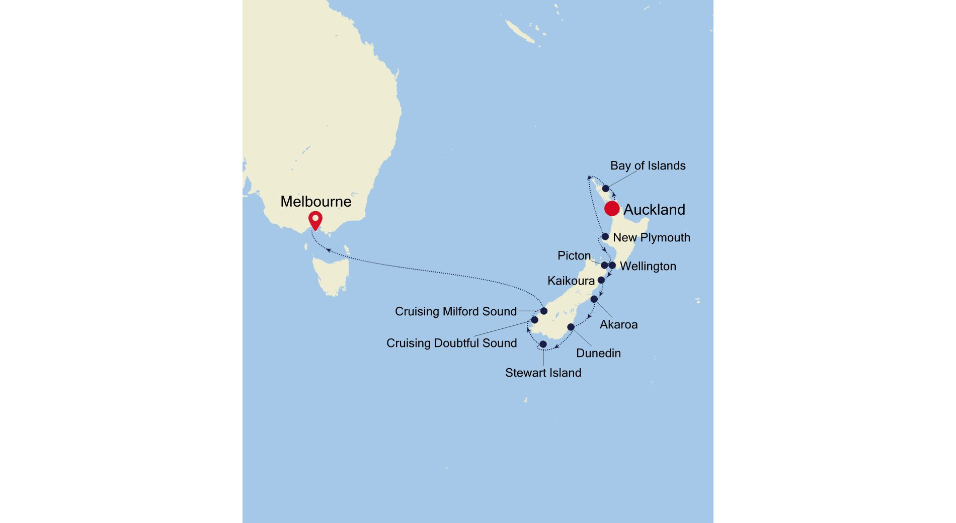 SM220203S14 - Auckland nach Melbourne