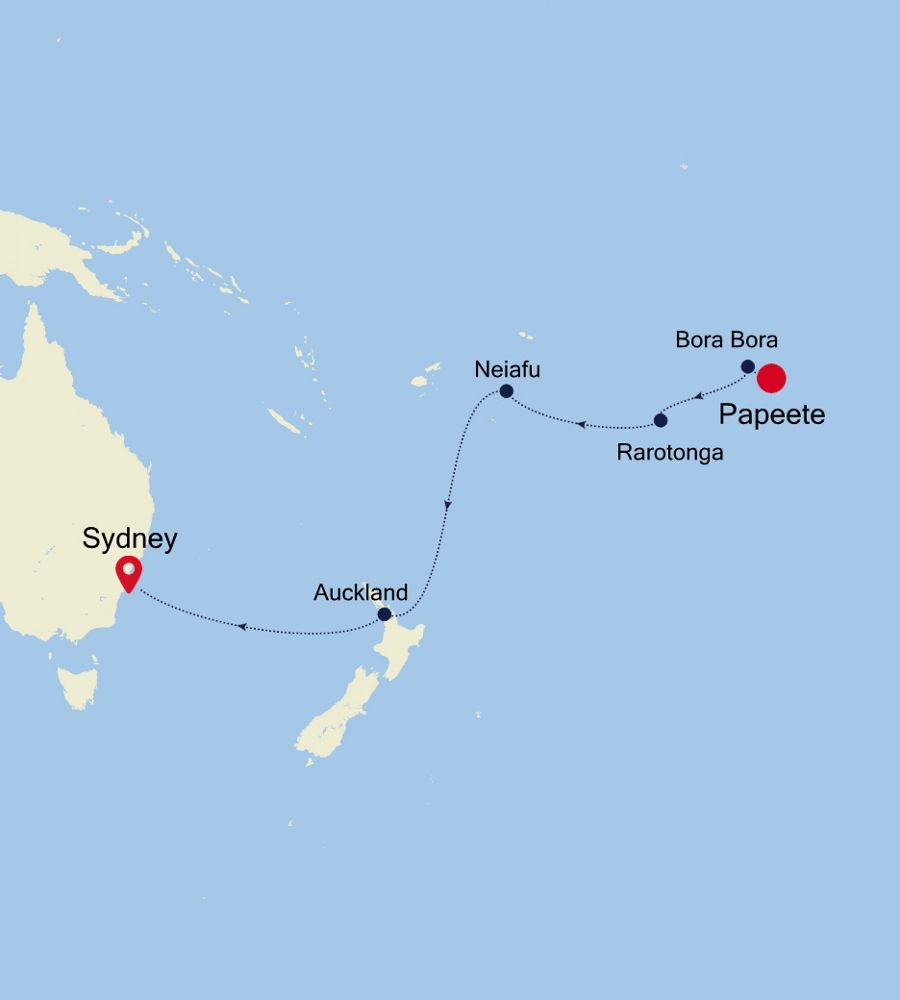 4902 - Papeete a Sydney
