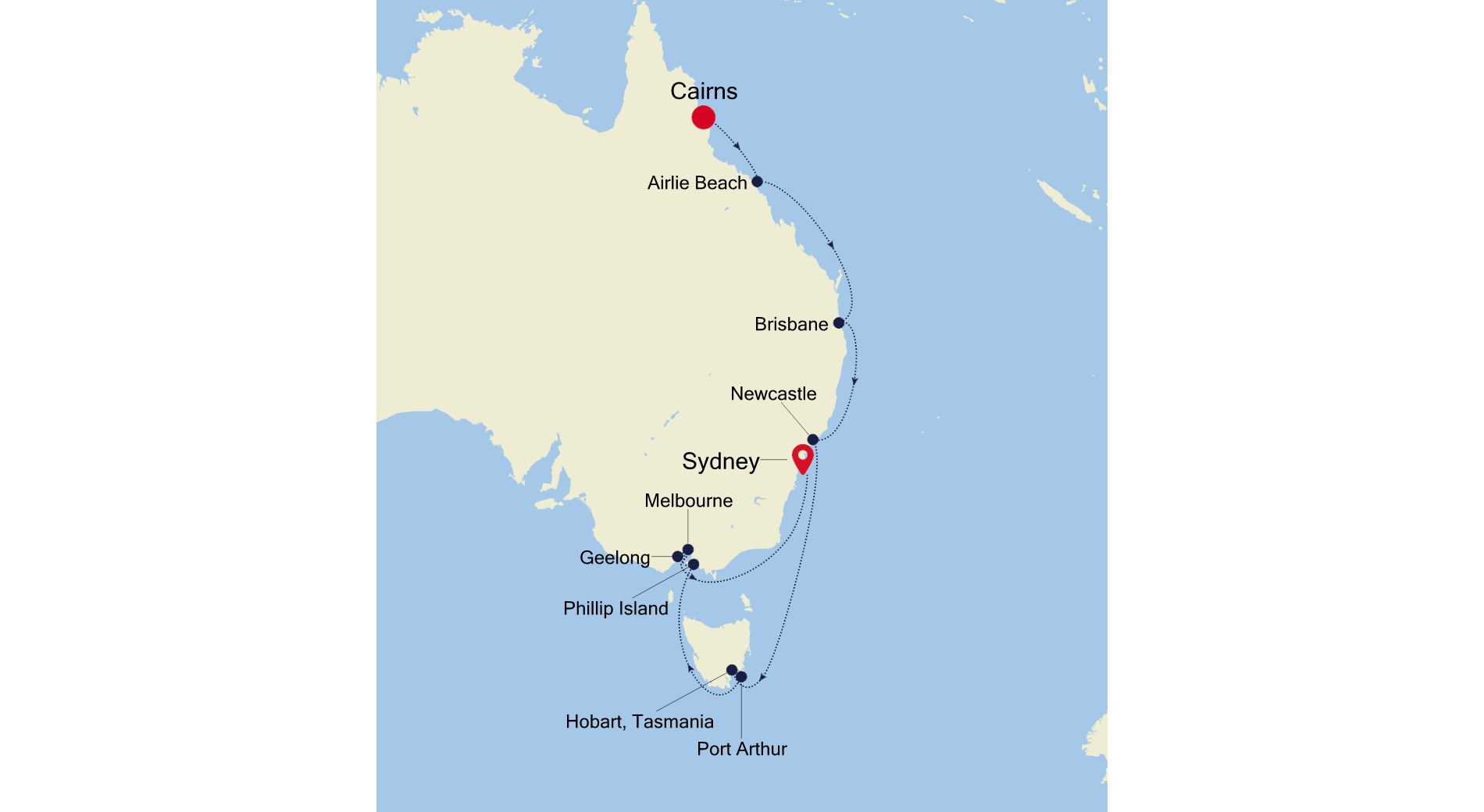 SS220119015 - Cairns to Sydney