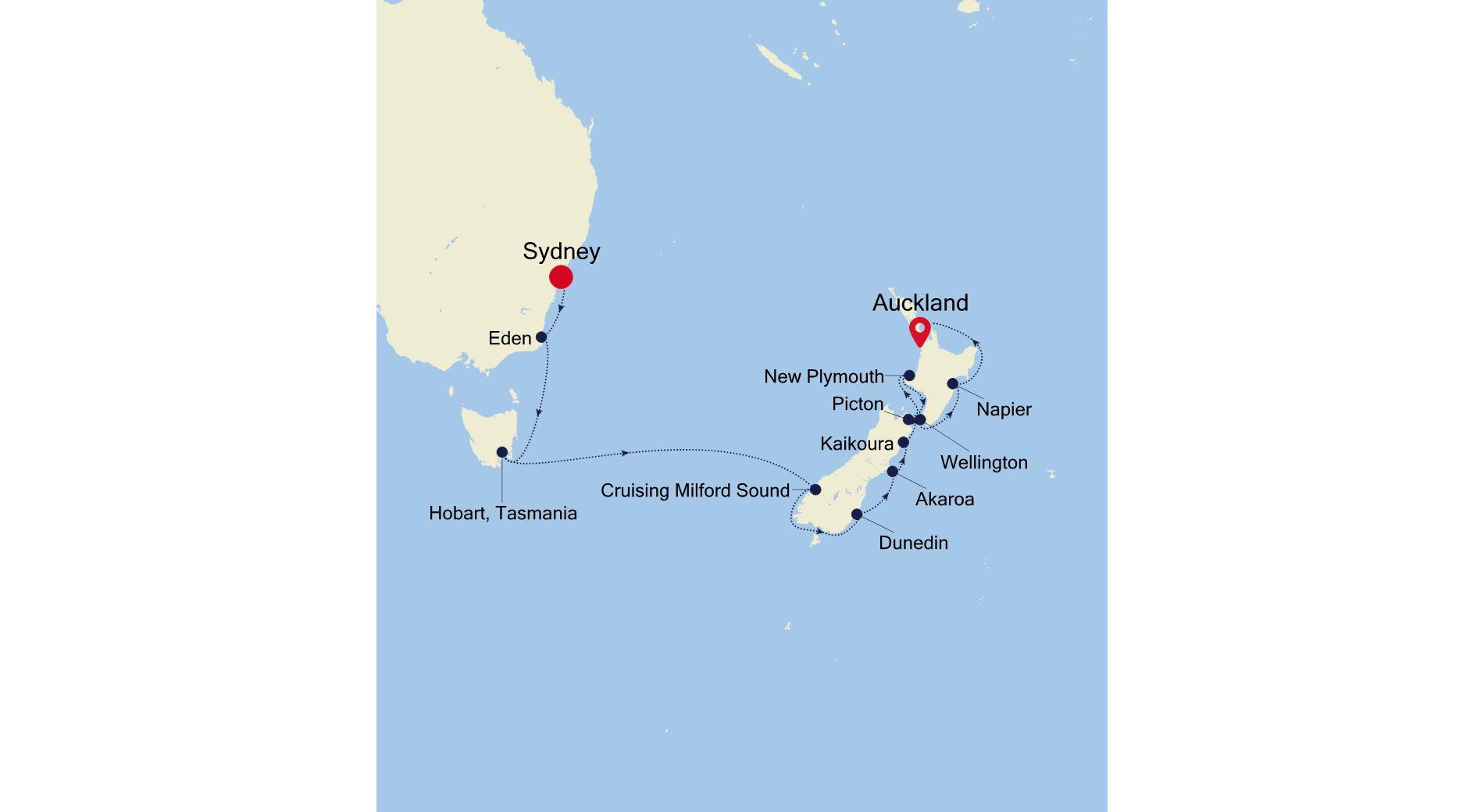SS220203015 - Sydney a Auckland