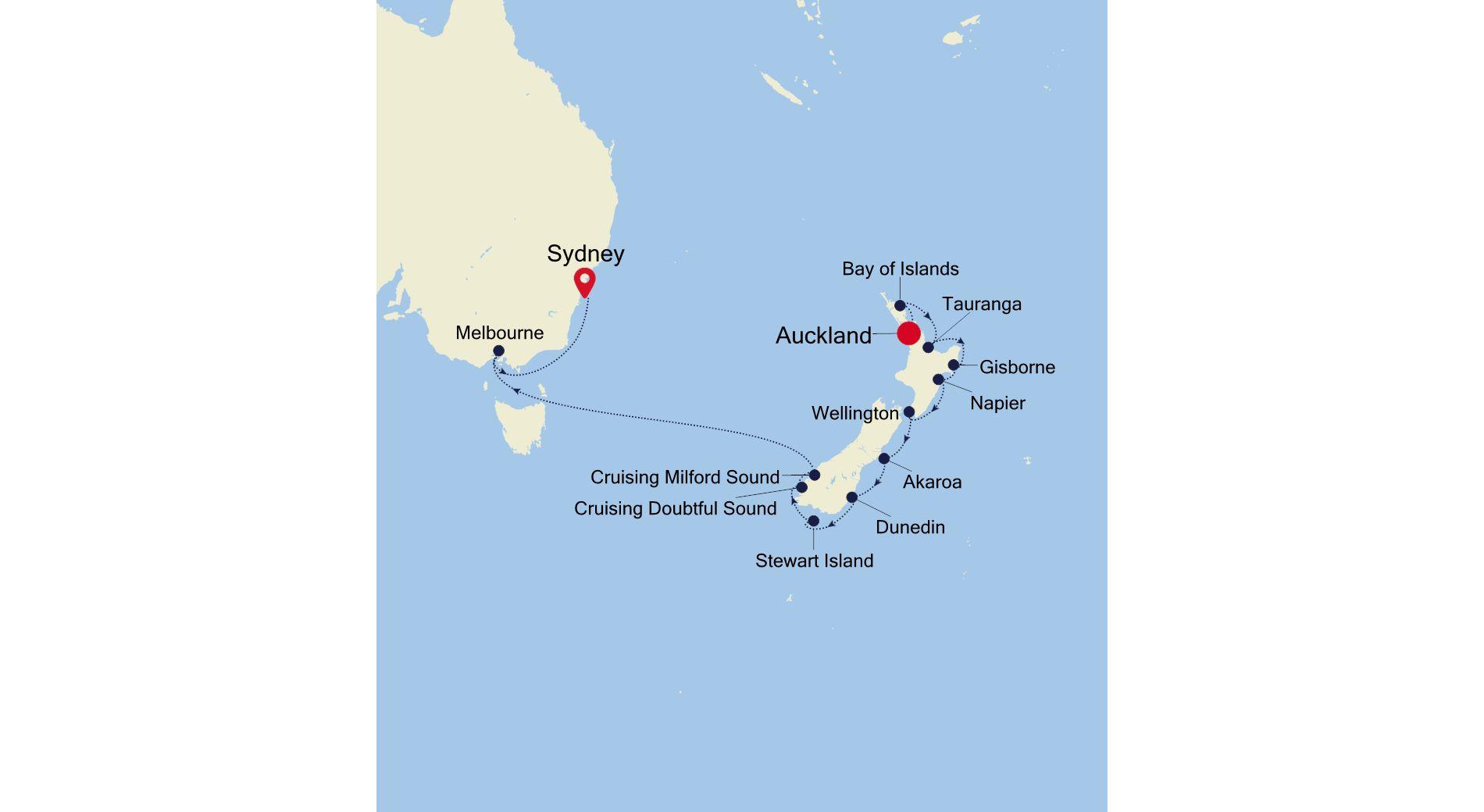 SS220218015 - Auckland a Sydney