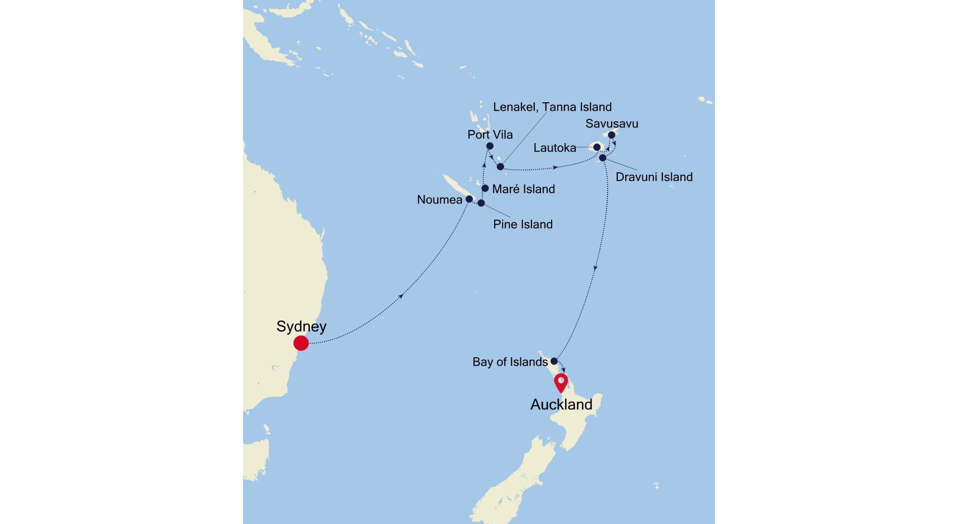 SS220305015 - Sydney to Auckland