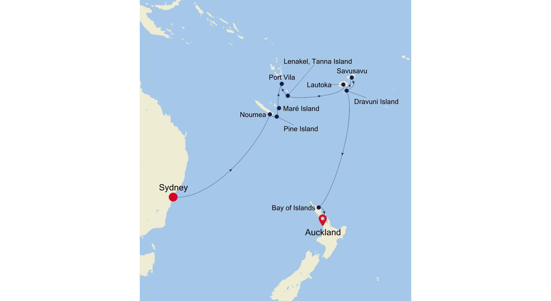 SS220305015 - Sydney a Auckland