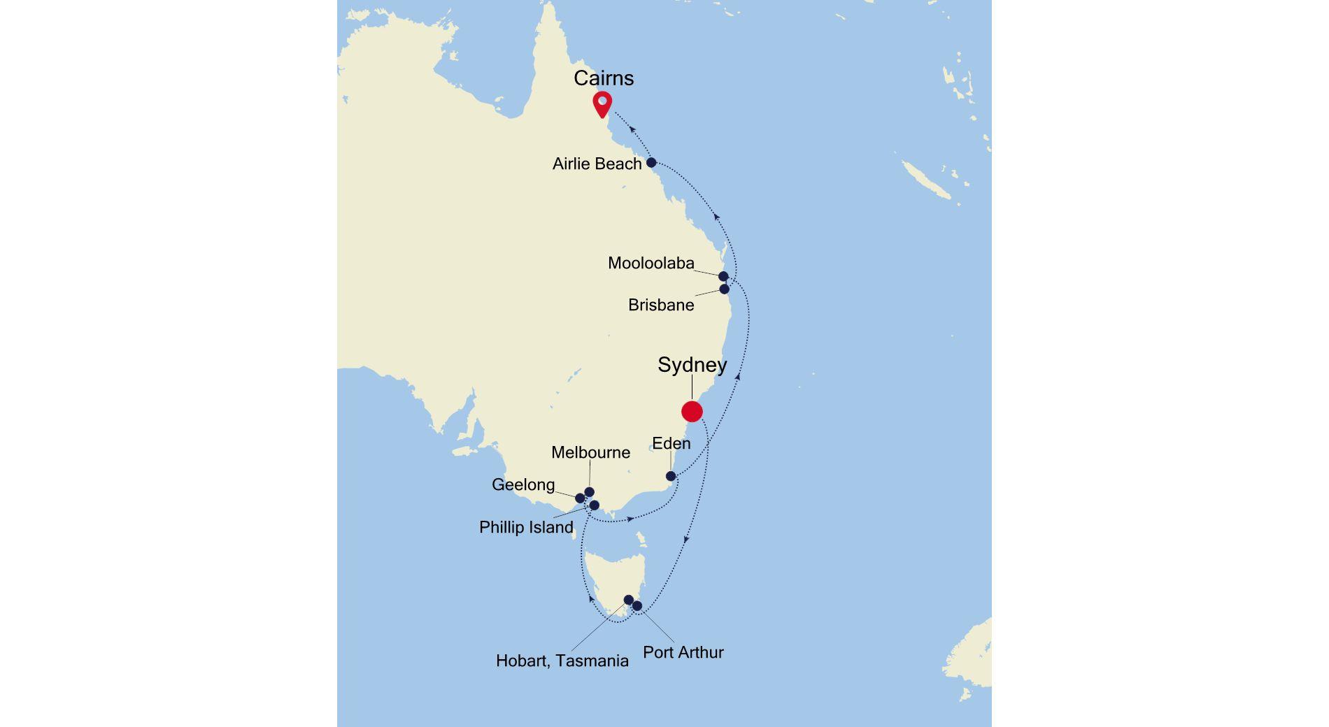 SS220404016 - Sydney à Cairns