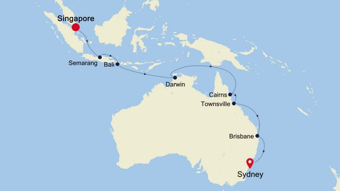 Luxury Cruise from SINGAPORE to SYDNEY 18 Nov 2019 | Silversea